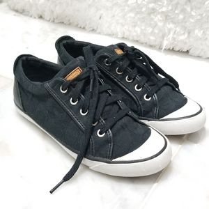 Coach Barrett Canvas and Leather Black Sneakers